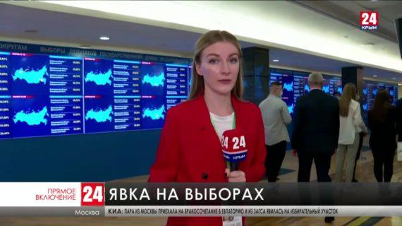 В информационном центре избиркома России прошёл первый брифинг