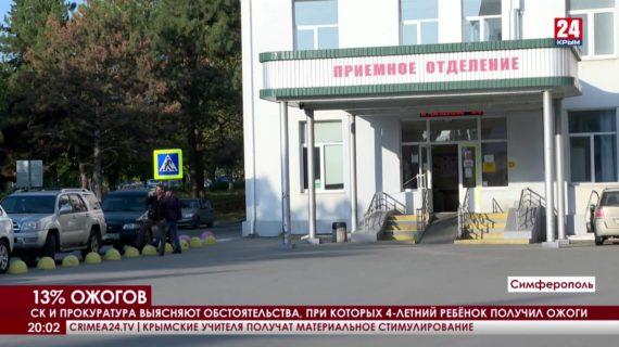 Следователи и прокуратура Крыма выясняют обстоятельства, при которых 4-х летний ребёнок получил ожоги