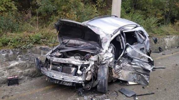 В районе Гурзуфа произошло ДТП с участием легковушки и грузовика. ФОТО. ВИДЕО