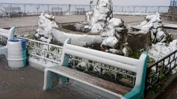 На Ай-Петри выпал первый снег. ФОТО